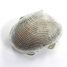 LARGE VICTORIAN STYLE QUALITY SHELL PILL TRINKET BOX STERLING SILVER 925