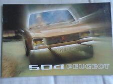 Peugeot 504 range brochure 1973