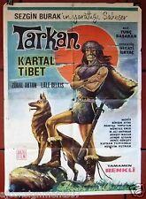 Tarkan kartal {Kartal Tibet} Turkish Original Rare Movie Poster 60s