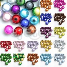 10/20/40/80/120pcs Illusion Miracle Beads Acrylic Round 18 Colours 4/6/8/10/12mm
