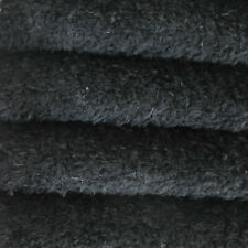 1/4 yd Vis1/Scm Black Intercal 6mm Med. Dense Curly Matted German Viscose Fabric