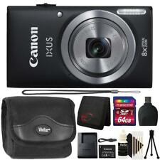 Canon IXUS 185 / ELPH 180 20MP Digital Camera Black and 64GB Accessory Kit