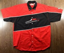 Dale Earnhardt Jr. Pit Crew Shirt Large Nascar Full Button Up Embroidered Logos