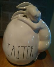 "Rae Dunn Large Easter Egg Hugging Bunny 11""  home decor LL NEW"