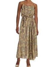 NWT FREE PEOPLE SzM VALERIE FLORAL BLOUSON RUFFLED MAXI DRESS MISTY PLUM COM$148
