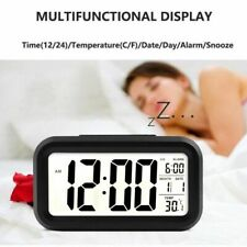 Large Display Calendar Home Office Travel Table Clock Snooze Electronic Kids