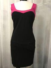 Trina Turk Women's Dress Pink and Black Block Print Dress Size 2