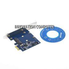 Expansion Card Converter SATA 3 III & mSATA 3 III SSD to PCI-E PC Board Adapter