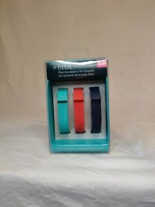 NEW Fitbit Flex Accessory Wristbands 3-pack W/ 1 Interchangeable Clasp Size S/P