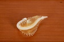 Ricambio lampadario vetro Murano. Foglia lavorata, decorazioni oro.
