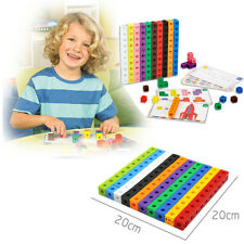 10 Colors Graphics Math Link Cubes Baby Geometric Counting Cubes Snap Blocks Toy