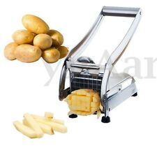 2 Blades Potato Chipper French Fries Slicer Chip Cutter Chopper Maker Slicer