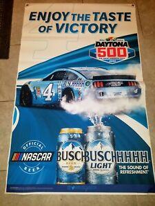 NEW!/NASCAR/KEVIN HARVICK/ BUSH BEER/BUSH LIGHT/ DAYTONA 500 BANNER/NEW!