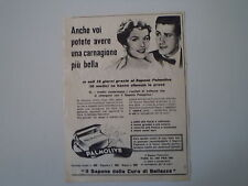 advertising Pubblicità 1956 SAPONE PALMOLIVE