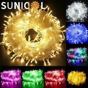 LED Mains Fairy String Lights Plug in Christmas Party Outdoor Garden Lights UK