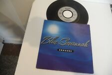 "ERASURE 45T BLUE SAVANNAH. 7"" VINYL FRENCH PRESS PROMO STAMP EMBOSSED."