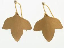 H. Stern 18K Gold Hera Leaf Earrings w/diamond accents