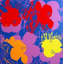ANDY WARHOL POPPY FLOWERS SUNDAY B.MORNING SILK-SCREEN 11.66 WITH COA