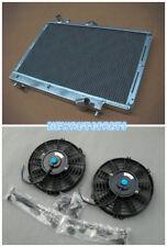 Aluminum Radiator+Fans For MAZDA FAMILIA GTX / 323/PROTEGE LX 1.8L BP 1989-1994