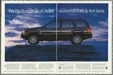 1992 JEEP GRAND CHEROKEE 2-page advertisement, Canadian advert, Jeep Cherokee
