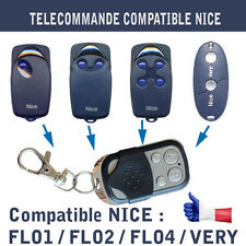 TELECOMMANDE DUPLICATION NICE FLO 1 2 4 NICE VERY  BIP GARAGE PORTAIL ALARME