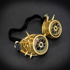 Steampunk Goggles Spike Costume Cosplay Gold G1046