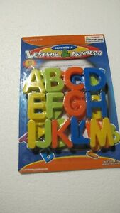 Magnetic Letters. Set of 26. Bright Colors. New.