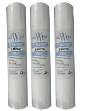 "20"" SEDIMENT PARTICLE WATER FILTERS PREFILTER 5 MICRON - 3 PACK"