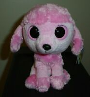 "Ty Beanie Boos PRINCESS the Poodle Dog (2012 Solid Eyes) 6"" MINT with MINT TAGS"