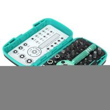 "22x Palm Ratchet Wrench Bit 1/4"" Driver Socket Set Screwdriver Kit Pro'sKit K3L4"