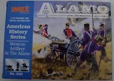 Imex 1:72 25mm Mexican Artillery Alamo Figure Set No. 520~New/Open Box