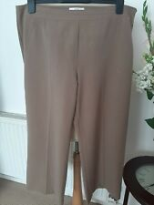 MARKS and SPENCER fawn wide leg smart/work/dress trousers size 18 waist 38""