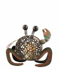 Pacific Accents Beach Comber Crab Flameless Candle Holder with 4 C Batteries