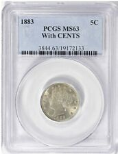 1883 Liberty Nickel With CENTS PCGS MS-63