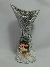 Fat Lava Art Pottery Vase French Signed Annecy Hand Painted