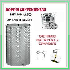 BOTTE INOX PER OLIO SALDATA LT.500+ FUSTO INOX LT.3