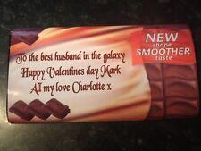 Personalised galaxy chocolate bar 114g christmas birthday mum nanny dad grandad