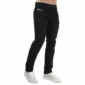 Men's Diesel Buster Regular Button Fly Slim-Tapered Jeans in Blue