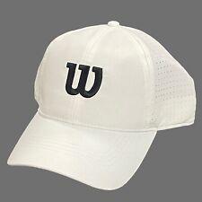 Wilson - White Ultralight Adjustable Tennis Hat Cap WRA777101 Golf