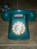 Metropolis Vtg. Green Push Button Dial Retro Rotary Style Phone SW2504 Superman