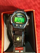 Vintage Timex Ironman Triathlon Watch  w/ original adjustab band  indiglo light