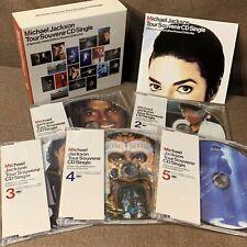 """MICHAEL JACKSON Tour Souvenir CD Single JAPAN-ONLY 5 x 5"""" CD BOX SET ESCA-5703~7"""