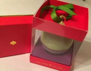 Kate Spade Lenox Christmas Porcelain Ball Ornament Be Merry Be Bright~New In Box