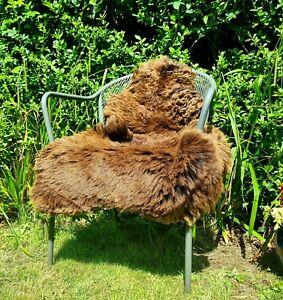 XXL Brown British Jacobs Sheepskin Rug - 105cm by 70cm A+ (1268)