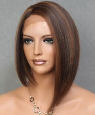 Women Full Lace Front Wig Straight Brown mix Hair Piece VGA 4-27-30 NWT