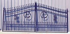 14' Driveway Gate Steel inc Post Package Commercial Residential Home Security