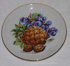 Vintage Porcelain Fruit Plates Pineapple Grapes Czechoslovakian Bohemia China