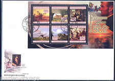 Guinea 2012 Famous Painting Of 1862 Cooper Manet Elmore W/Abe Lincoln Sht Fdc