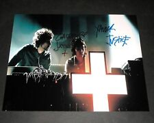 """JUSTICE PP SIGNED 10""""X8"""" PHOTO DANCE DJ ELECTRO"""