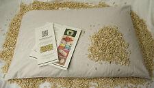 Cuscino letto 70x45 in cotone naturale con pula di farro bio